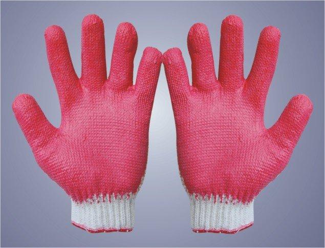 Găng tay sợi tráng cao su