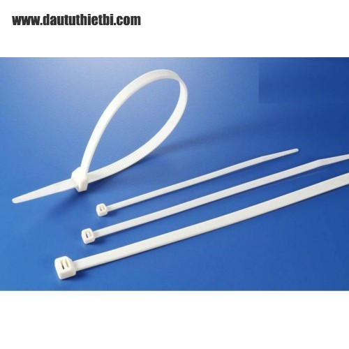 Dây thít nhựa màu trắng kích thước rộng 10 mm dài 500 mm (gói 100 sợi)