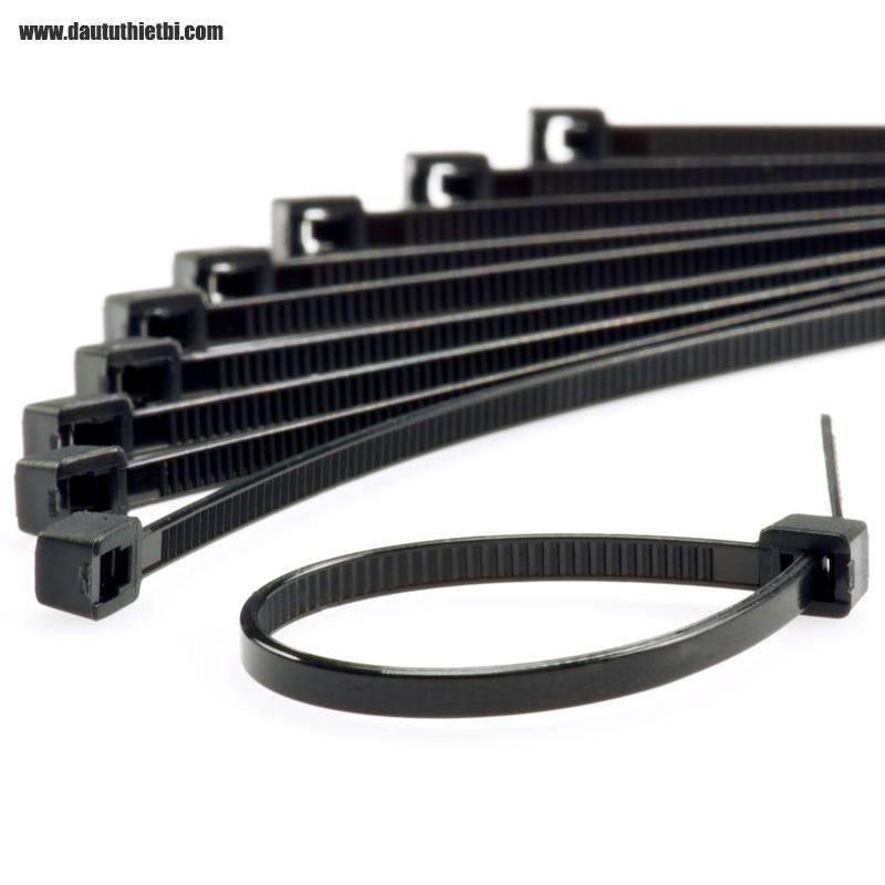 Dây thít nhựa màu đen kích thước rộng 8 mm dài 300 mm (gói 250 sợi)