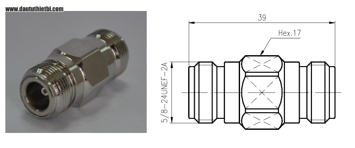 Adapter cáp đồng trục 5D-FB N Female to N Female