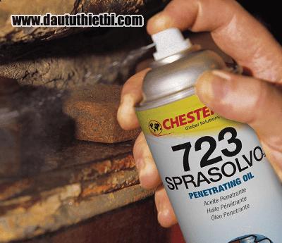 Dầu bôi trơn chống gỉ chống cháy CHESTERTON SPRASOLVO 723 chai 350 gram