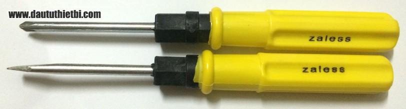 Tô vít vàng đảo đầu nhọn, dẹt cỡ  6 mm x 100 mm