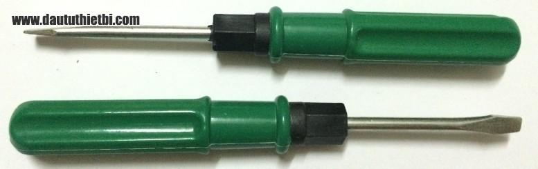 Tô vít xanh đảo đầu nhọn, dẹt cỡ  5 mm x 75 mm