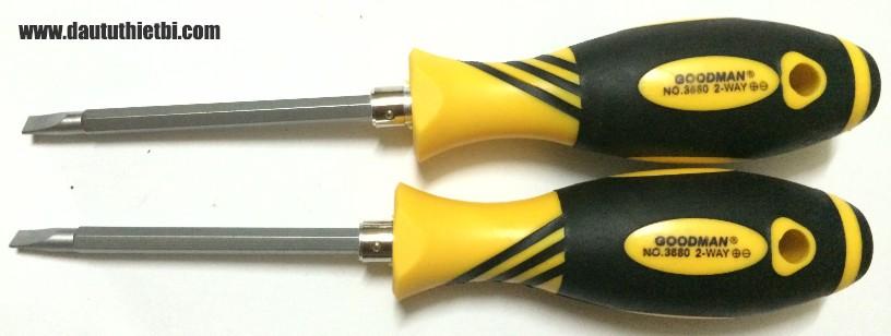 Tô vít đổi đầu nhọn, dẹt cỡ 6 mm x 100 mm Goodman 3680-100