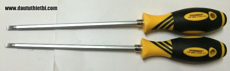 Tô vít đổi đầu nhọn, dẹt cỡ 6 mm x 200 mm Goodman 3680-200