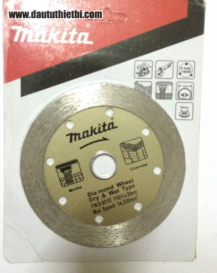 Lưỡi cắt gạch Makita kích thước 150 x 16 x 2 mm mã D-05197