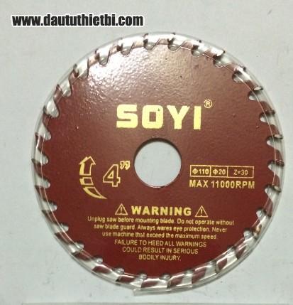 Đĩa dao cắt gỗ SOYI kích thước 110 x 20 mm (30 răng)