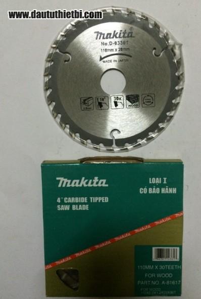 Đĩa dao cắt gỗ Makita kích thước 110 x 20 mã D-03361
