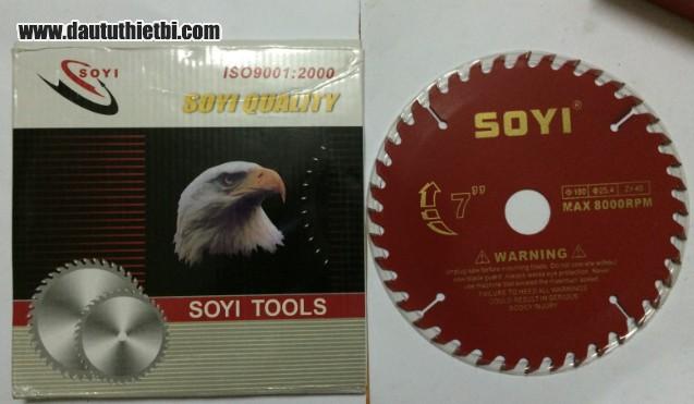Đĩa dao cắt gỗ SOYI kích thước 180 x 25.4 mm (40 răng)