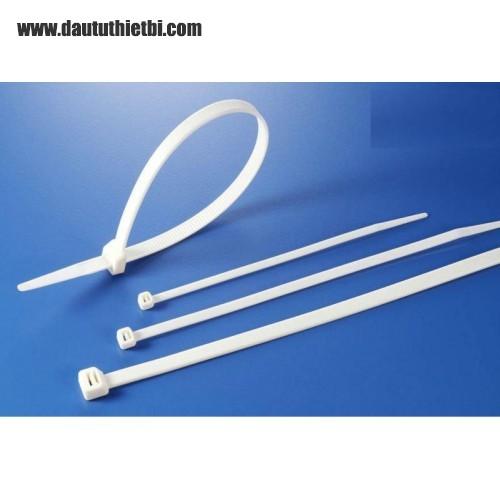 Dây thít nhựa màu trắng kích thước rộng 3mm dài 100 mm (gói 1000 sợi)