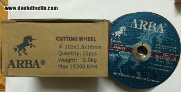 Đá cắt thép ARBA 105 mm kích thước 105 x 1.8 x 16 mm