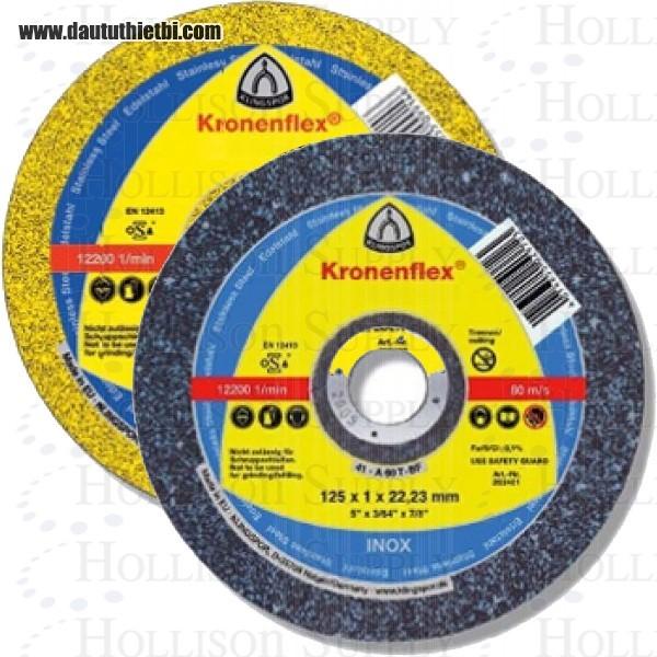 Đá cắt thép, thép inox không gỉ hàng Đức Kronenflex dày 0.8 mm kích thước 125 x 0.8 x 22,23