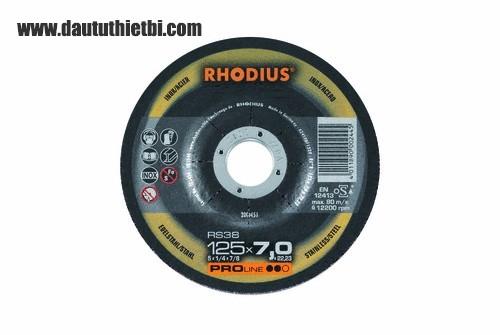 Đá mài thép không gỉ inox RHODIUS kích thước 100 X 16.0 X 6 MM PART NUMBER :200427 CODE: RS38