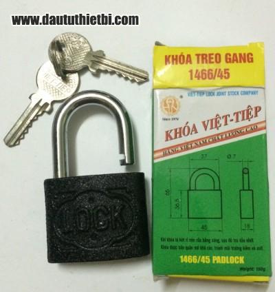 Khóa treo gang cầu 7 mm Việt Tiệp mã 1466/45