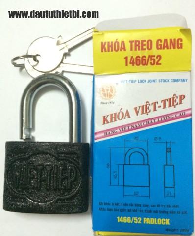 Khóa treo gang cầu 8 mm Việt Tiệp mã 1466/52