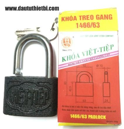 Khóa treo gang cầu 10 mm Việt Tiệp mã 1466/63