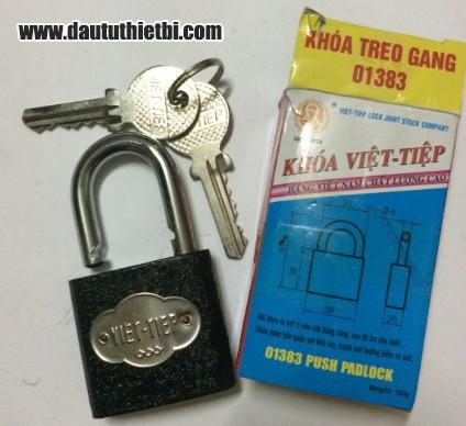 Khóa treo gang cầu bấm 6 mm Việt Tiệp mã 01383