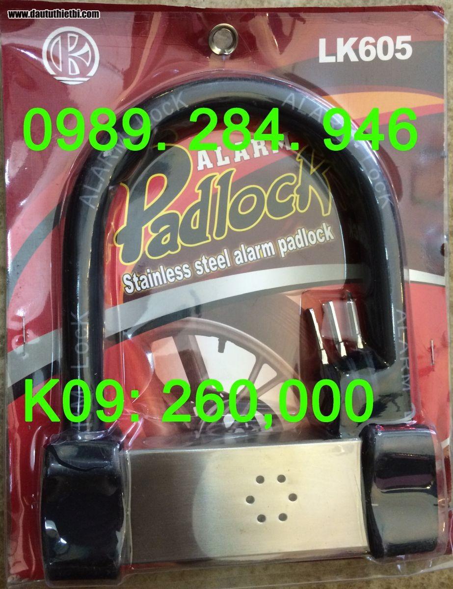 Khóa chữ U, khóa xe máy có còi báo động PadLock LK605