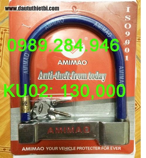 Khóa chống trộm xe máy chữ U AMIMAO