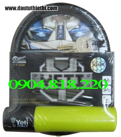 Khóa chữ U, khóa xe máy Yeti YT-530 K08