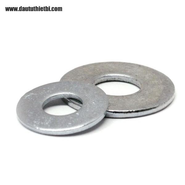 Vòng đệm phẳng thép đen mạ kẽm  M10 dày 2 mm đường kính trong 10.5 mm, đường kính ngoài 20 mm