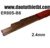 Que hàn Tig 80S-B6 ER80S-B6 đường kính Ф 2.4 mm ER80S-B6