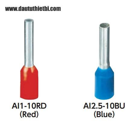 Đầu cốt cos dạng kim cho dây tiết diện 1 mm2 hàng Đức Phoenix Contact mã AI1-8RD