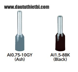 Đầu cốt cos dạng kim cho dây tiết diện 1.5 mm2 hàng Đức Phoenix Contact mã AI1.5-8BK