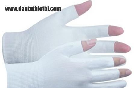 Găng tay phủ PU lòng bàn tay cắt 3 ngón