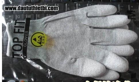 Găng tay sợi Carbon phủ nhựa PU lòng bàn tay