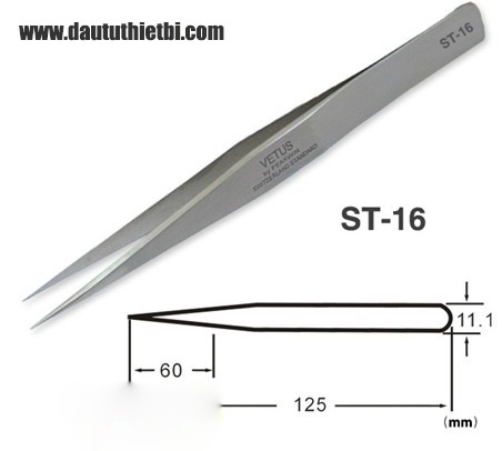 Nhíp ST-16 thép inox chống gỉ chính xác cao