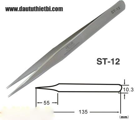 Nhíp Vetus ST-12 thép inox chống gỉ chính xác cao
