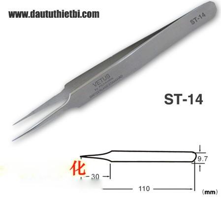 Nhíp Vetus ST-14 thép inox chống gỉ chính xác cao